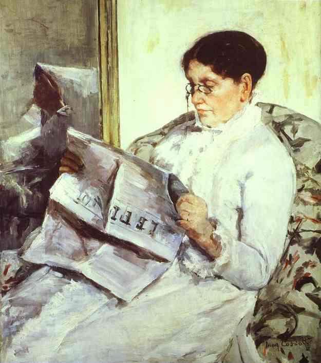 Reading Le Figaro