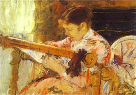 Lydia at a Tapestry Loom