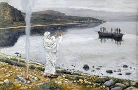 Piotr rzucił się w morze